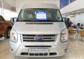 Ford Transit Luxury 2018 màu bạc còn BH hãng 2022